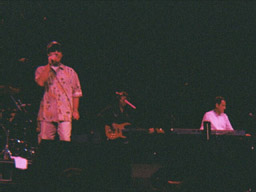 Ron onstage with Bo Donaldson