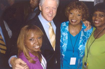 The Dixie Cups w/former President Clinton 09/20/05